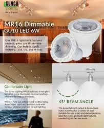 Led Light Bulb Mr16 by Sunco Lighting 10 Pack Mr16 Dimmable Gu10 Led 6w Light Bulb
