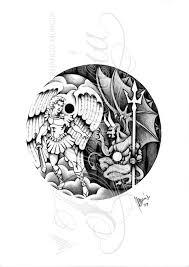 angel vs demon yin yang by dfmurcia on deviantart