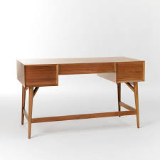 modern desk with storage mid century desk acorn west elm