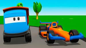 cartoon race car leo the truck u0026 race car kids cartoons youtube