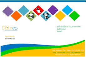 company letterhead template box design dotxes