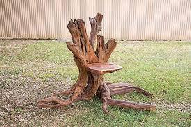 Stump Chair Creative Sitting Device Cedar Stump Chair On Behance
