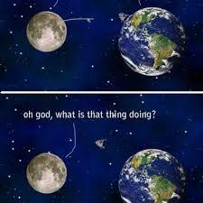 Earth Meme - earth moon have a conversation a serious human virus