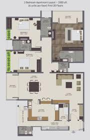 3 bedroom apartment plans
