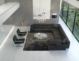 modern furniture boca raton meet the sophisticated bergamo sectional black leather sofa