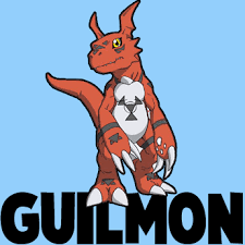 draw guilmon digimon easy steps drawing tutorial