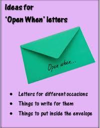 ideas for u0027open when u0027 letters u2013 bethsartcrafts