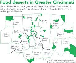 Map Cincinnati Healthy Eating