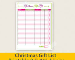gift shopping list colorful dates to remember list pdf printable file