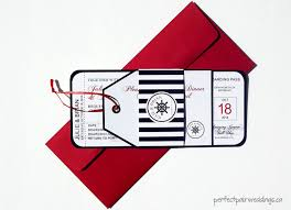 Wedding Invitations And Rsvp Cards Together Nautical Boarding Pass Style Wedding Invitation And Tag Style