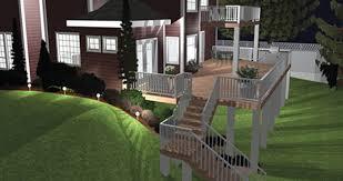 Virtual Backyard Design by Landscape And Deck Designer