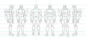 figure drawing turnaround template male by tamm3r on deviantart
