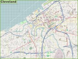 map of cleveland large detailed map of cleveland