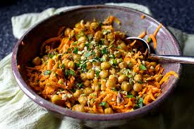 carrot salad with tahini and crisped chickpeas u2013 smitten kitchen