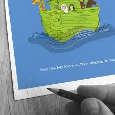 personalised boy u0027s u0027noah u0027s ark u0027 print by jenkini childrens
