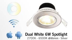 wifi led recessed lights appl 6 watt dual white led tiltable recessed downlight 230volt