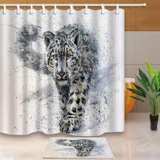 Shower Curtain Online Uncategorized Leopard Print Shower Curtain For Lovely 2018