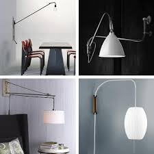 wall mounted pendant light best swing arm pendant lights apartment therapy
