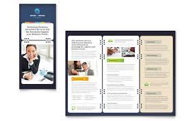 office word brochure template secretarial services tri fold brochure template word publisher