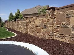 Retaining Wall Design Ideas by Block Fence Designs Backyard Fence Ideas