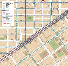 Downtown San Francisco Map by Bg Cartography Downtown San Francisco Transit