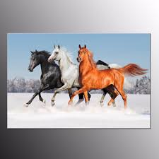 Horse Decorations For Home by Compare Prices On Running Horses Painting With Frame Online