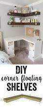 diy floating corner shelves pine boards shelving and super easy