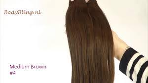 Brown Hair Extensions by Hair Extensions Kleur 4 Medium Brown Youtube