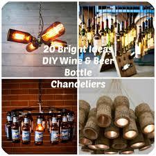 Wine Bottle Chandeliers 20 Bright Ideas Diy Wine Bottle Chandeliers