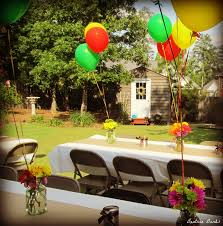 high school graduation party centerpieces backyard graduation party beatrice banks party time
