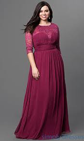 plus size burgundy bridesmaid dresses three quarter sleeve sweetheart gown