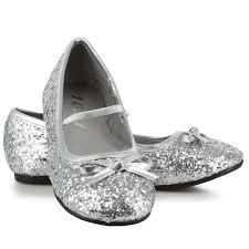 buy sparkle ballerina shoes silver child