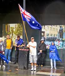 Indigenous Flags Of Australia Belgo Geordie Reclaim Australia Or People Standing About In The