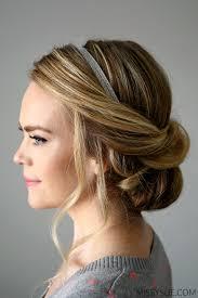 elastic hair band hairstyles wrapped headband updo
