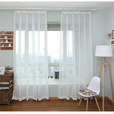 Single Curtains Window Aliexpress Com Buy White Sheer Voile Curtains Single Panels