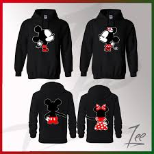 mickey and minnie kissing inspired soul mate couple sweaters