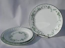 green callaway pattern corelle corning glass dishes dinner