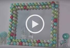 how to make an ornament mirror at the home depot