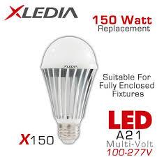 150 watt light fixture xledia x150n led bulb 150 watt equal fully enclosed rated