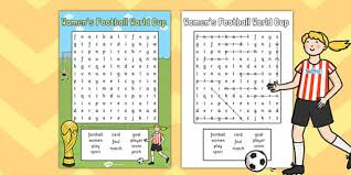 womens football world cup 2015 wordsearch wordsearch football