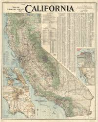 california map society california 1915 official railroad map american geographical