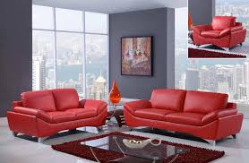Red Sofa Set by Global Furniture Ur7140 R Natalie Red Sofa Loveseat And Chair