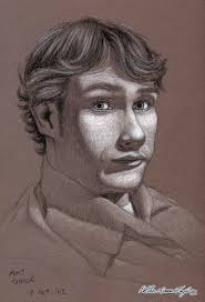 self portrait charcoal drawing on brown paper matthew james taylor