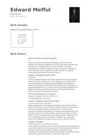 multimedia designer resume samples visualcv resume samples database
