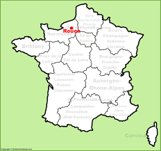 map of rouen rouen location on the map