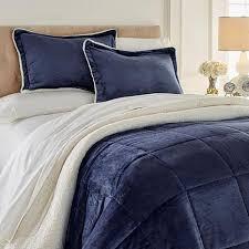soft cozy plush sherpa comforter set 8385966 hsn