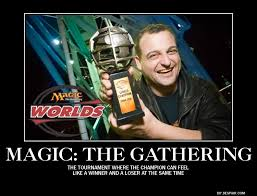 Magic Card Meme - how do i get my friends into magic the gathering four letter nerd