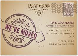 postcard moving announcement design moving cards