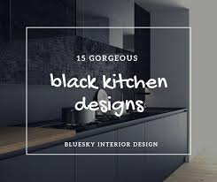15 extremely sleek and contemporary 15 gorgeous black kitchens bluesky interior design
