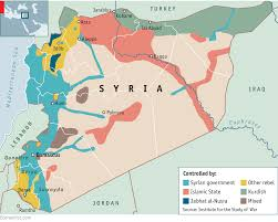 Syria War Map by Drawing In The Neighbours